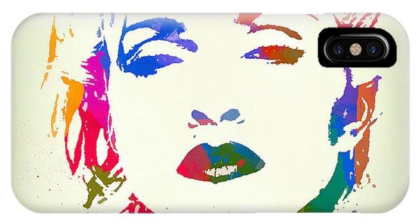 Mtv iPhone Case - Madonna Color Paint Splatter by Dan Sproul
