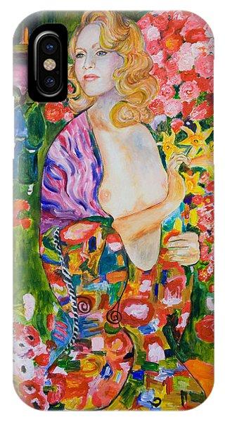 Madonna In Klimt Phone Case by Nik Helbig