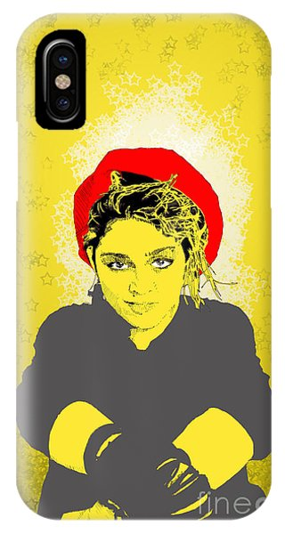 Madonna On Yellow IPhone Case