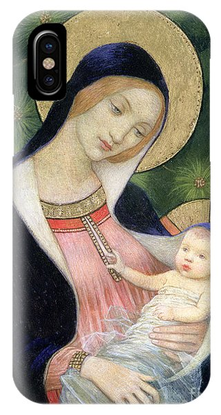 Life Of Christ iPhone Case - Madonna Of The Fir Tree by Marianne Stokes