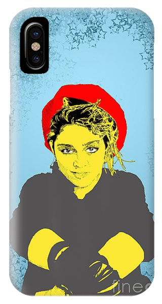 Madonna On Blue IPhone Case