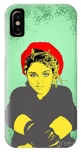Madonna On Green IPhone Case