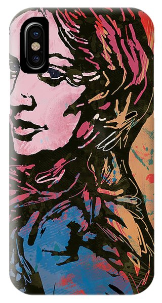 Mtv iPhone Case - Madonna Pop Stylised Art Sketch Poster by Kim Wang
