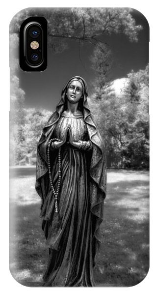Cemetery iPhone Case - Madonna by Tom Mc Nemar