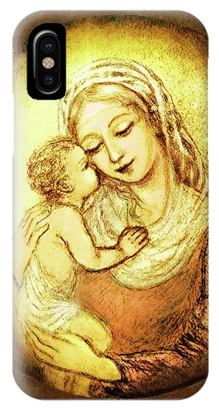 Mary And Jesus  Phone Case by Ananda Vdovic