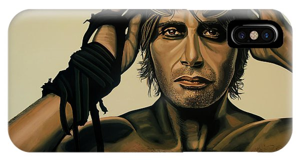 Craig iPhone Case - Mads Mikkelsen Painting by Paul Meijering