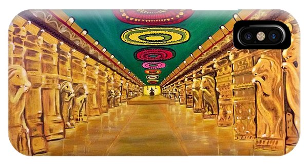 Madurai Meenakshi Temple Mandapam IPhone Case