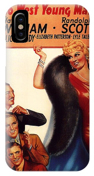 Mae West In Go West Young Man 1936 IPhone Case