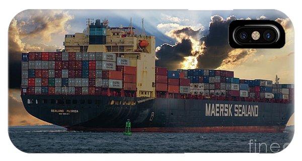 Maersk Sealand Leaving Charleston South Carolina IPhone Case