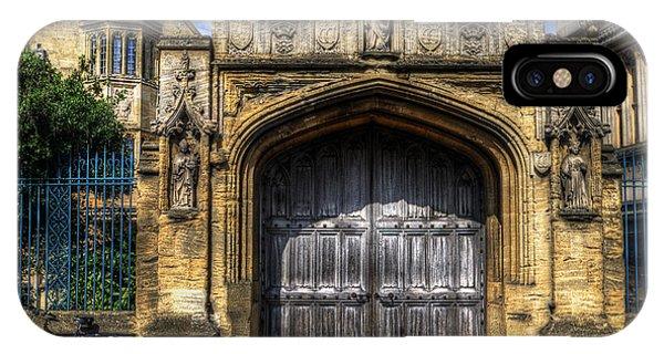 Magdalen College Door - Oxford IPhone Case