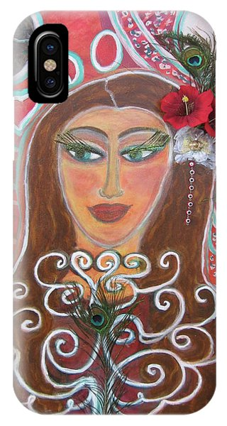 Magdalena The Peacock Gypsy Phone Case by Susan Risse