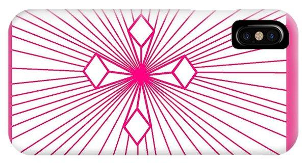 'magenta Lines 1' IPhone Case