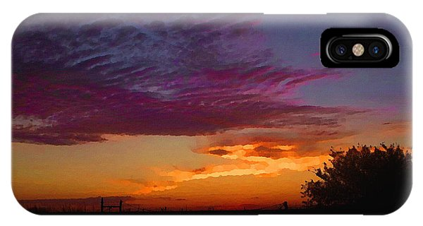 Magenta Morning Sky IPhone Case