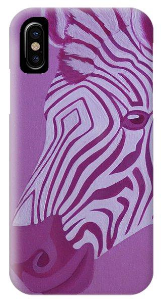 Magenta Zebra IPhone Case