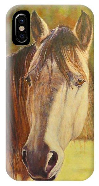 Maggie, Horse Portrait IPhone Case