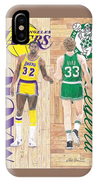 Magic Johnson And Larry Bird IPhone Case