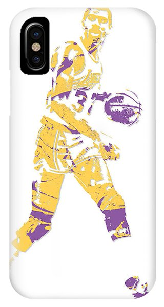 Magic Johnson Los Angeles Lakers Pixel Art 5 IPhone Case