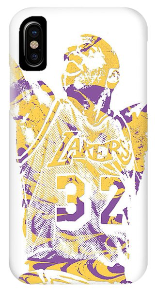 Magic Johnson Los Angeles Lakers Pixel Art 7 IPhone Case