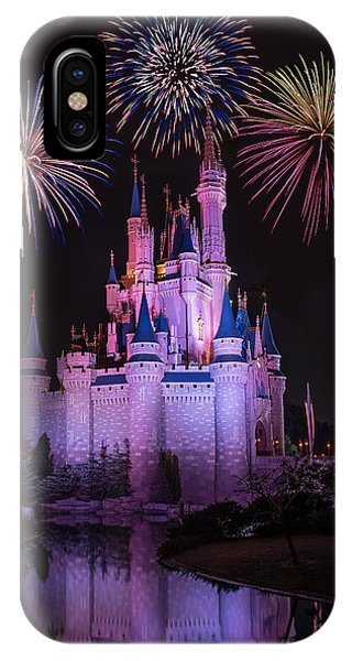 Magic Kingdom Castle Under Fireworks IPhone Case