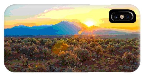 Magic Over Taos IPhone Case