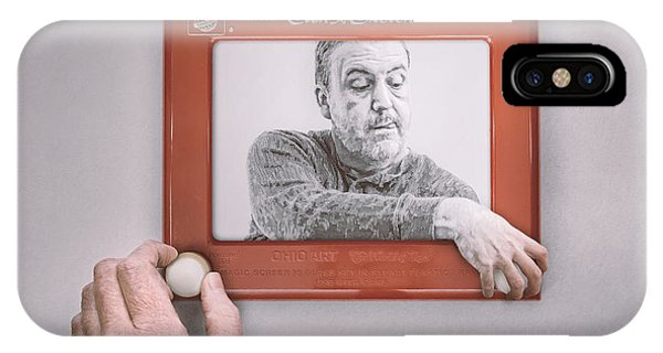 Etch-a-sketch iPhone Case - Magic Screen Duet by Scott Norris
