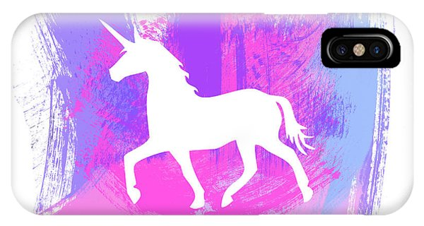 Magic iPhone Case - Magic Unicorn 1- Art By Linda Woods by Linda Woods