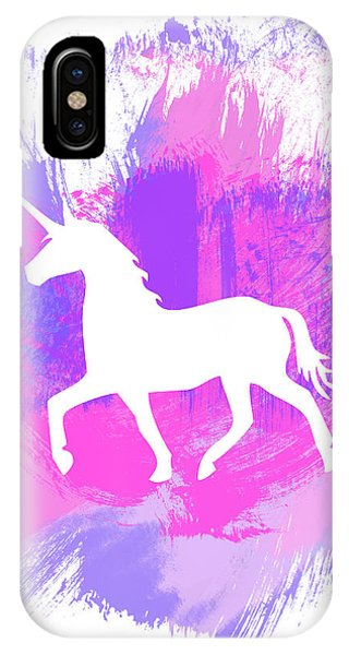 Magician iPhone X Case - Magic Unicorn 1- Art By Linda Woods by Linda Woods