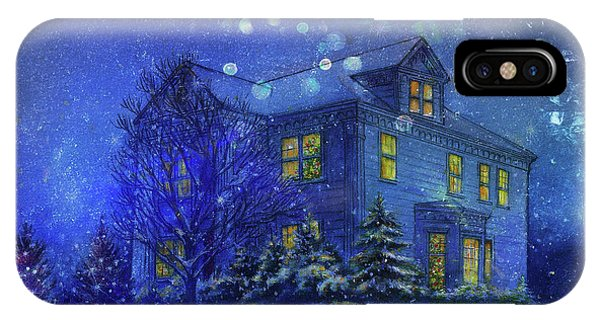 Magical Blue Nocturne Home Sweet Home IPhone Case