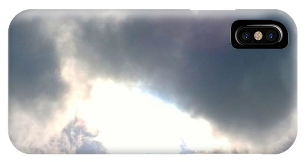 Sky iPhone Case - Magical #clouds Today :-) #sky #weather by Shari Warren