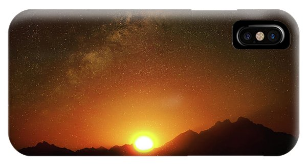 Magical Milkyway Above The African Mountains IPhone Case