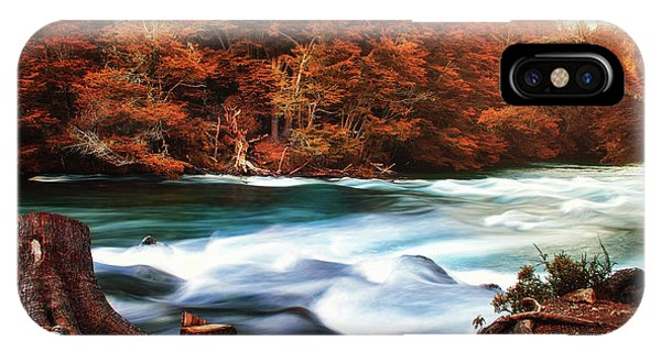 Autumnal Landscape With Lake In The Argentine Patagonia IPhone Case