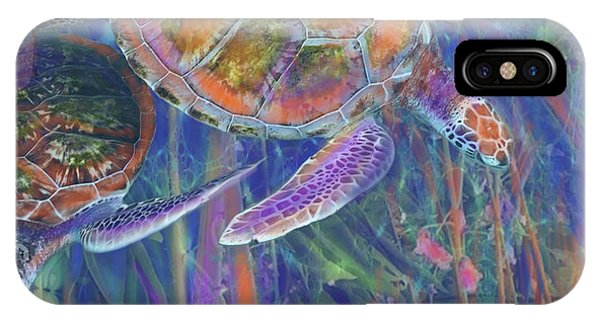 Magical Sea Turtles  IPhone Case