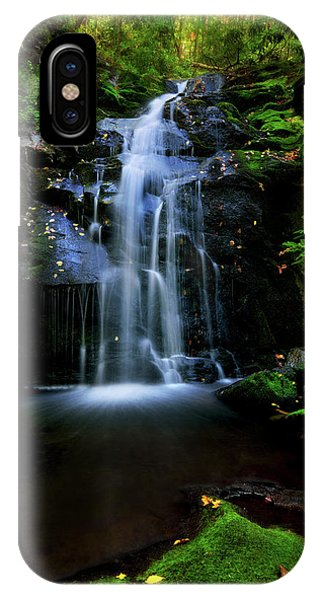 Magical Waterfall Above Spruce Falls In Tremont Smoky Mountains Tennessee  IPhone Case