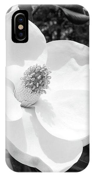 Garden Wall iPhone Case - Magnolia Bloom- By Linda Woods by Linda Woods