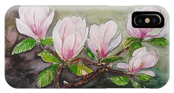 Magnolia Blossom - Painting IPhone Case