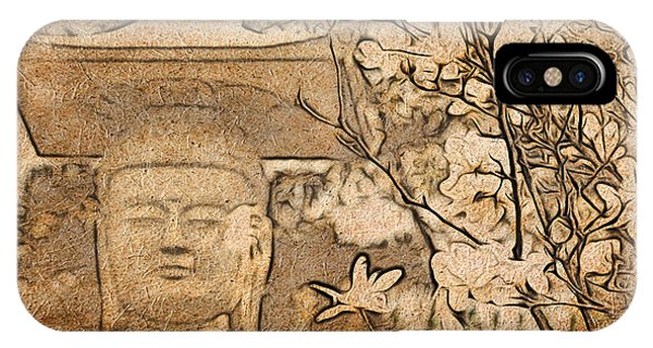 Magnolia Buddha IPhone Case