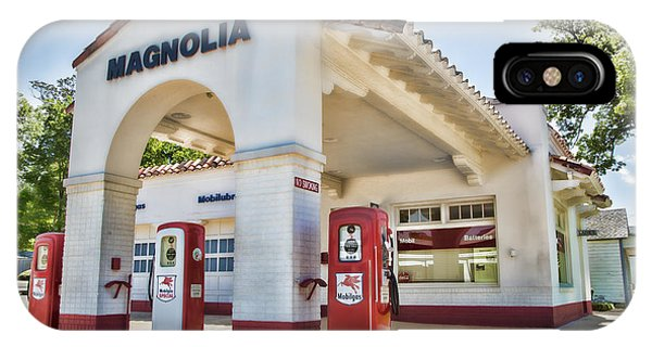 Gas Station iPhone Case - Magnolia Gas - Little Rock by Stephen Stookey