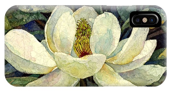 Blooming iPhone Case - Magnolia Grandiflora by Hailey E Herrera