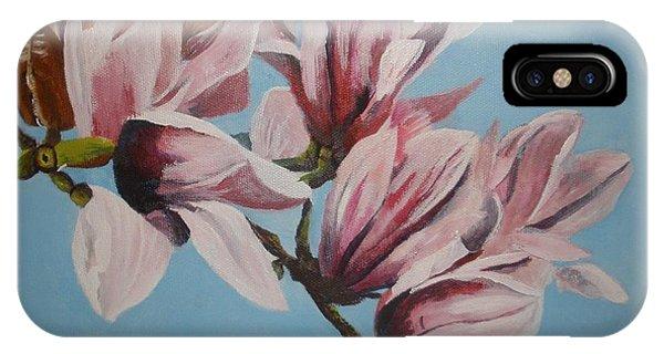 Magnolia Tree Branch IPhone Case