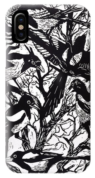 Magpies iPhone Case - Magpies by Nat Morley