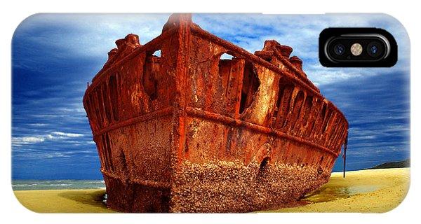 Maheno Shipwreck Fraser Island Queensland Australia IPhone Case