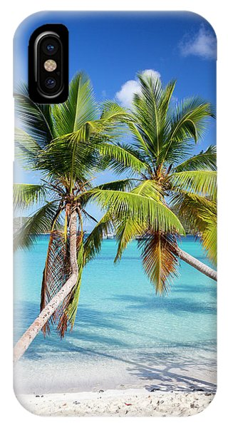 IPhone Case featuring the photograph Maho Bay Palms by Adam Romanowicz