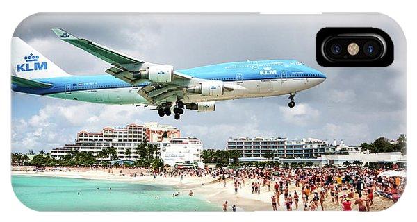 Maho Beach Caribbean Island Of St Maarten IPhone Case