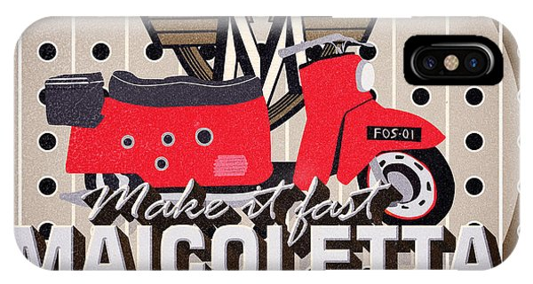 1950s iPhone Case - Maicoletta Scooter Advertising by Jorgo Photography - Wall Art Gallery