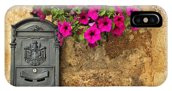 Mailbox With Petunias IPhone Case