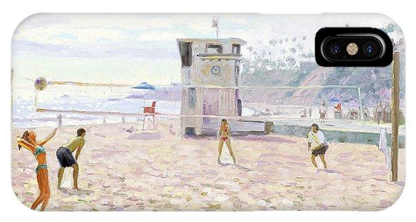 Laguna Beach iPhone Case - Main Beach Volleyball by Steve Simon