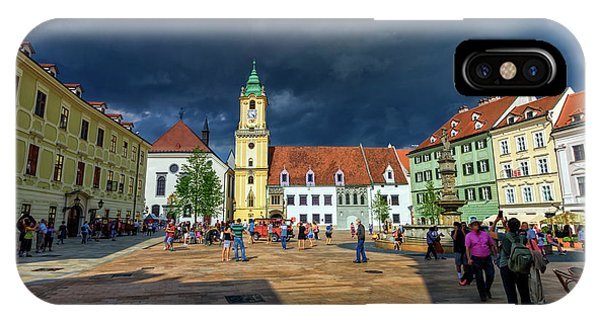 Main Square In The Old Town Of Bratislava, Slovakia IPhone Case
