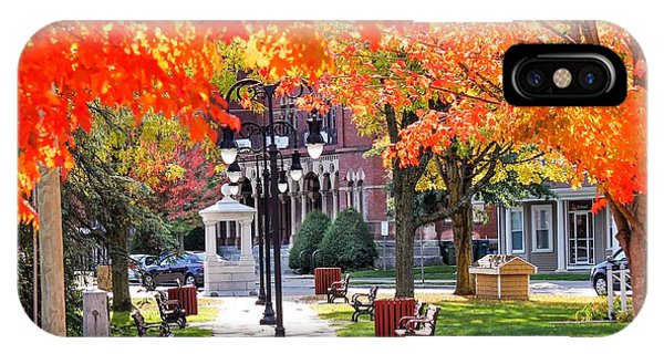 Main Street In The Fall IPhone Case