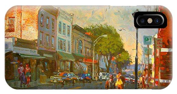 Hudson River iPhone Case - Main Street Nyack Ny  by Ylli Haruni