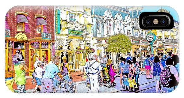 Main Street Usa Walt Disney World Poster Print IPhone Case